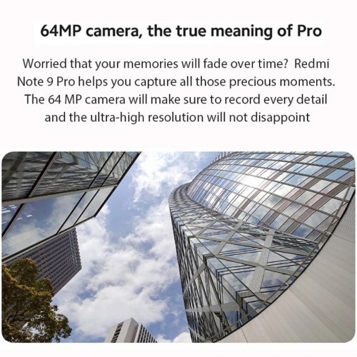 Redmi Note 9 Pro  128GB 64MP