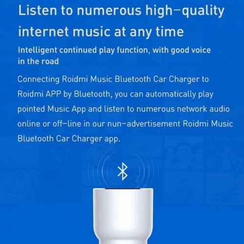 Mi Roidmi 3S FM Music Car Charger / Mi bílhleðslutæki