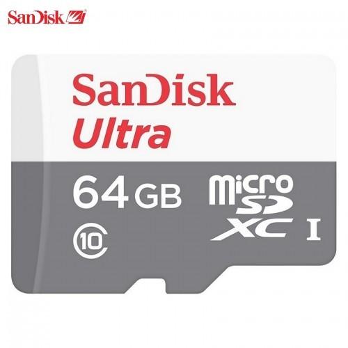 SanDisk MicroSD 64GB Ultra UHS-I + Class 10 Adapter